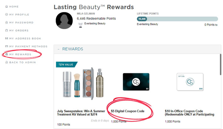 Lasting Beauty Rewards