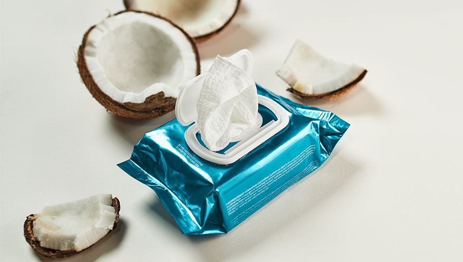 New Cleansing Cloths with coconuts