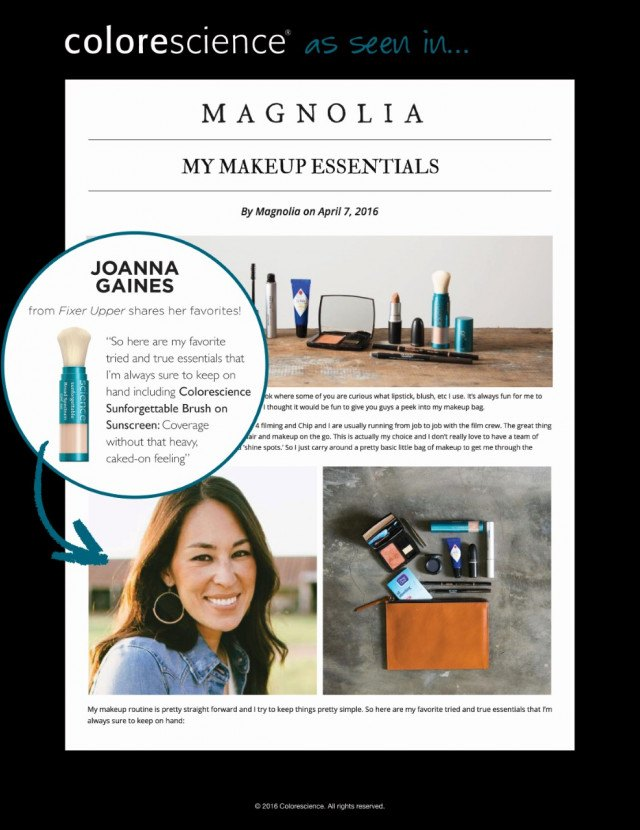 My Makeup Essentials Joanna Gaines Magnolia