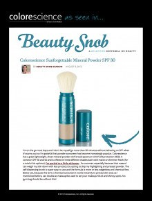 Sunforgettable on BeautySnob.com