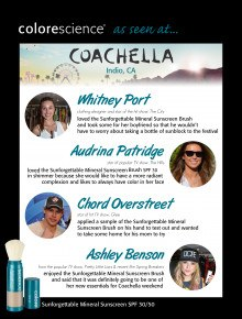 Colorescience at Coachella
