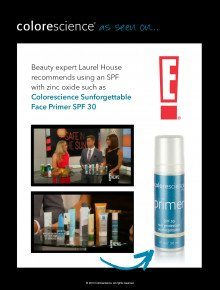 Beauty Expert Laurel House uses Colorescience on E!